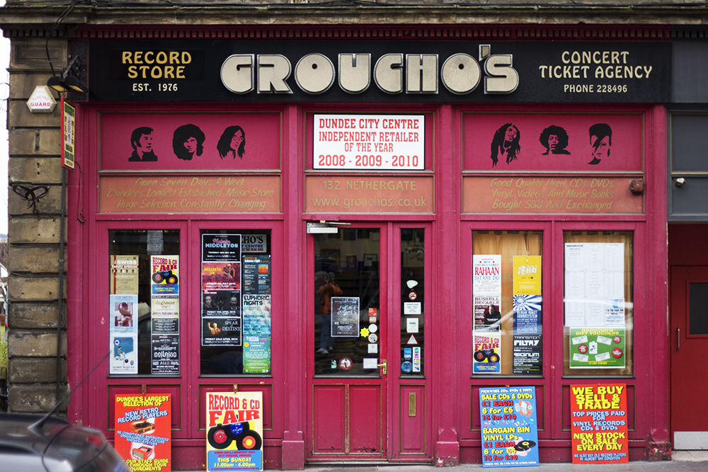 Groucho's Music Store Dundee