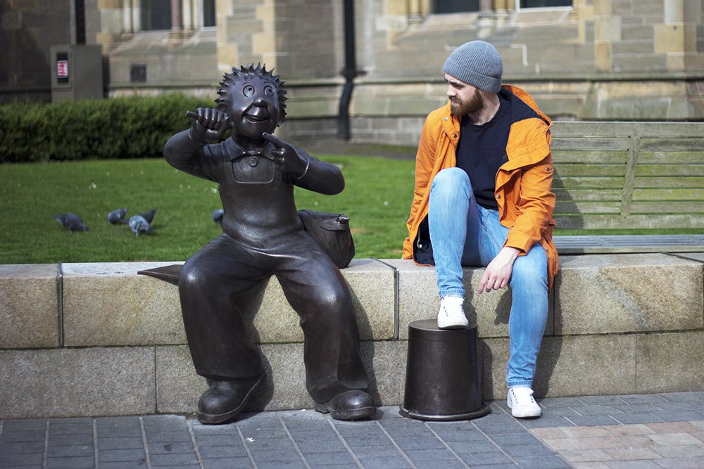 Oor Wullie statue Dundee