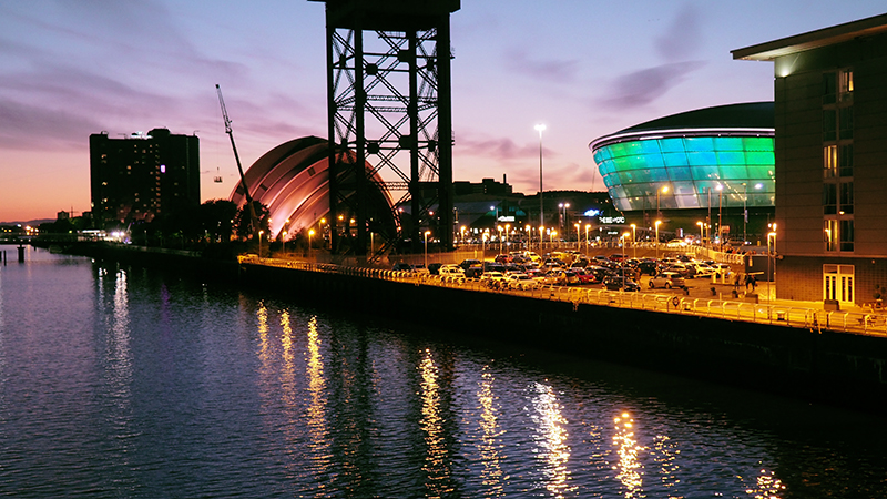 SECC Hydro at night
