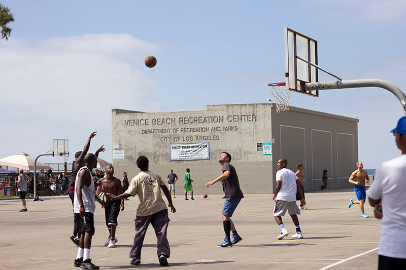 Basketball players, Venice Beach