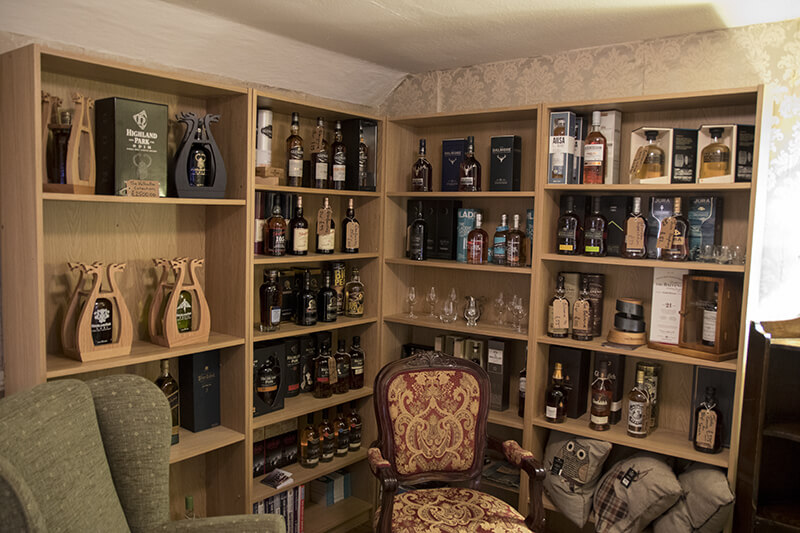 Whisky Selection at the Taynuilt hotel