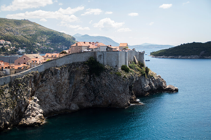 View of Dubrovnik Old Town walls