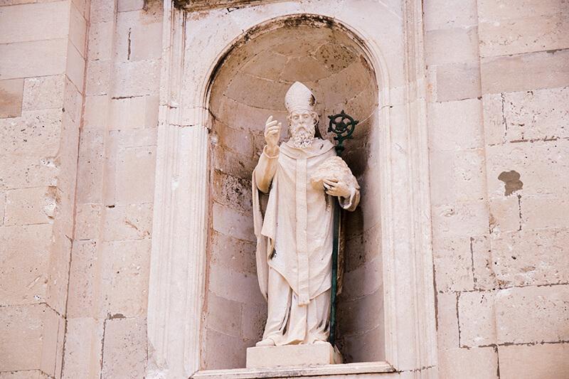 Statues in Dubrovnik