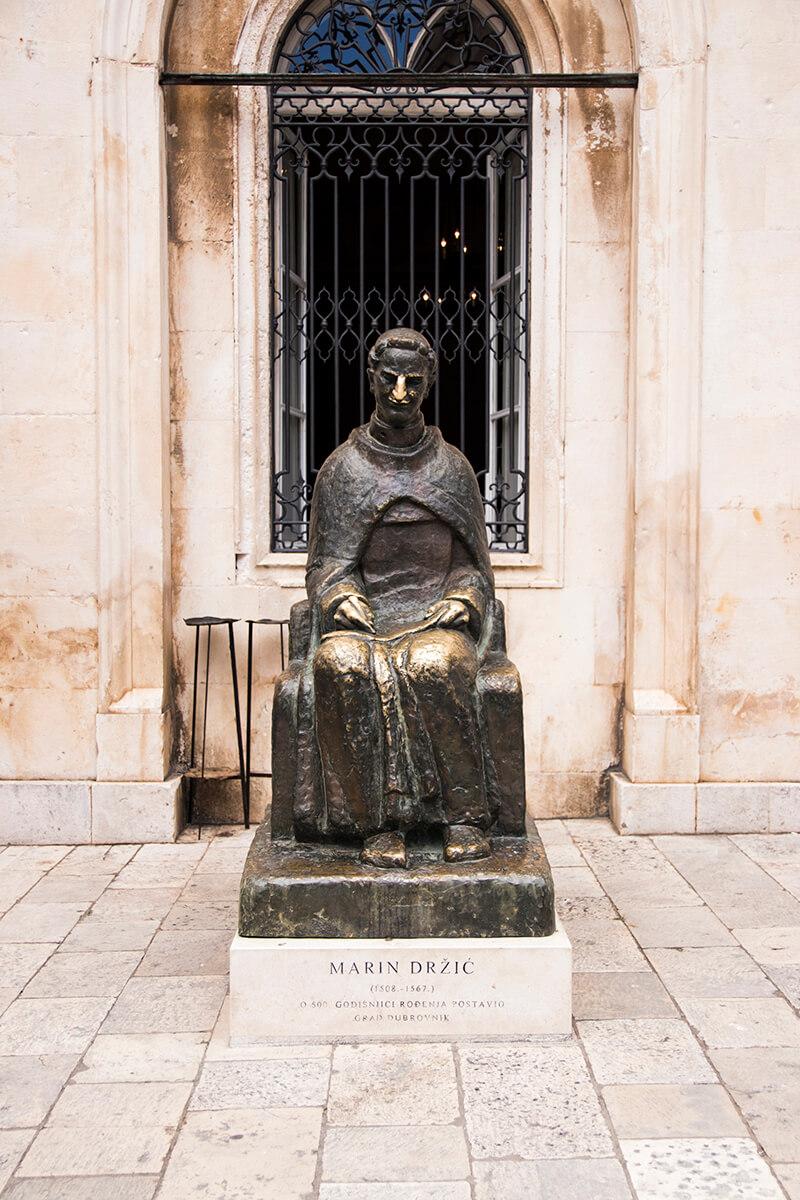 Marin Drzic Statue