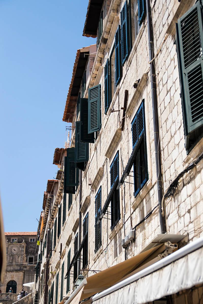 Shuttered windows in Dubrovnik