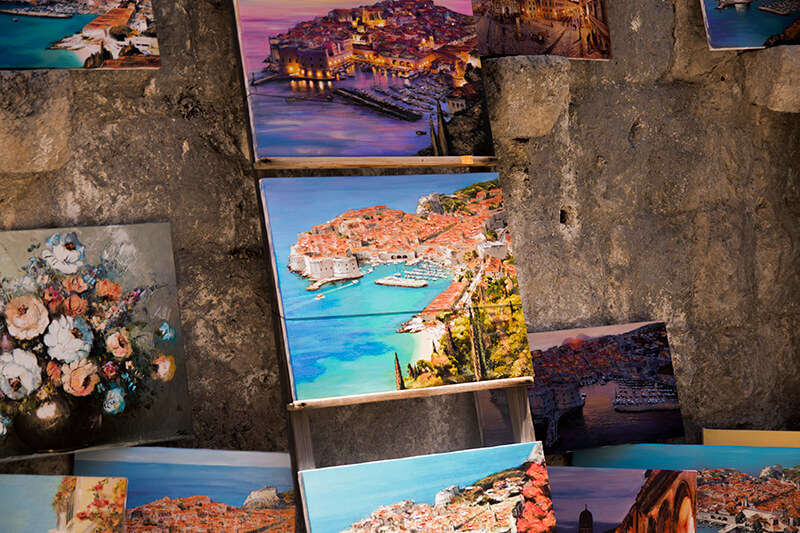 Artwork in Dubrovnik