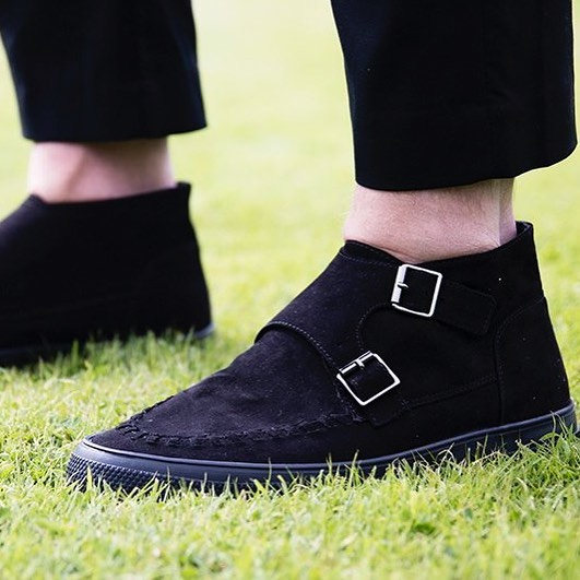 Double monk strap suede boots from Zara These make ahellip