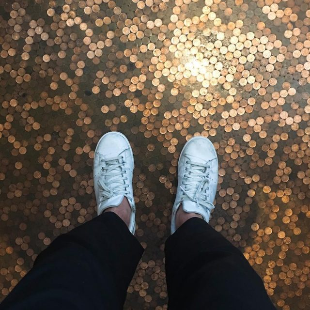 Standing on a floor made from pennies   hellip