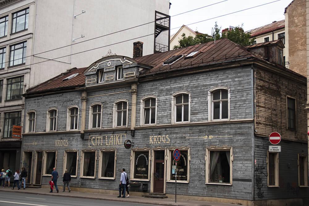 Wooden Buildings in Riga