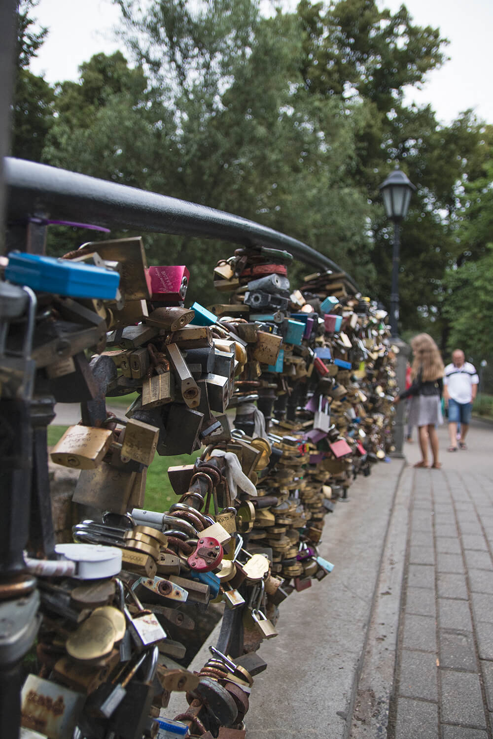 Love Locks on Bridge in Riga