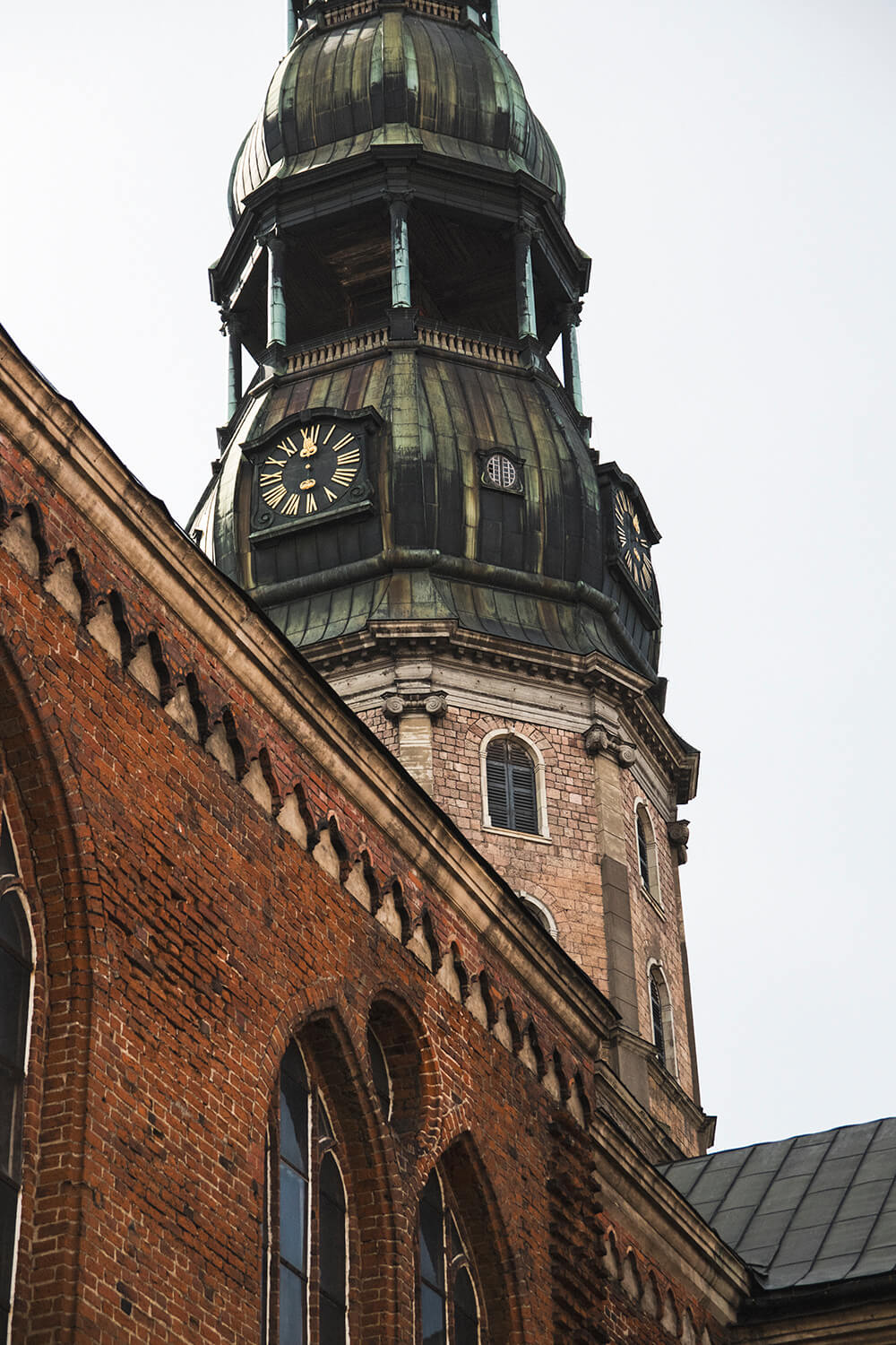 Church tower in Riga