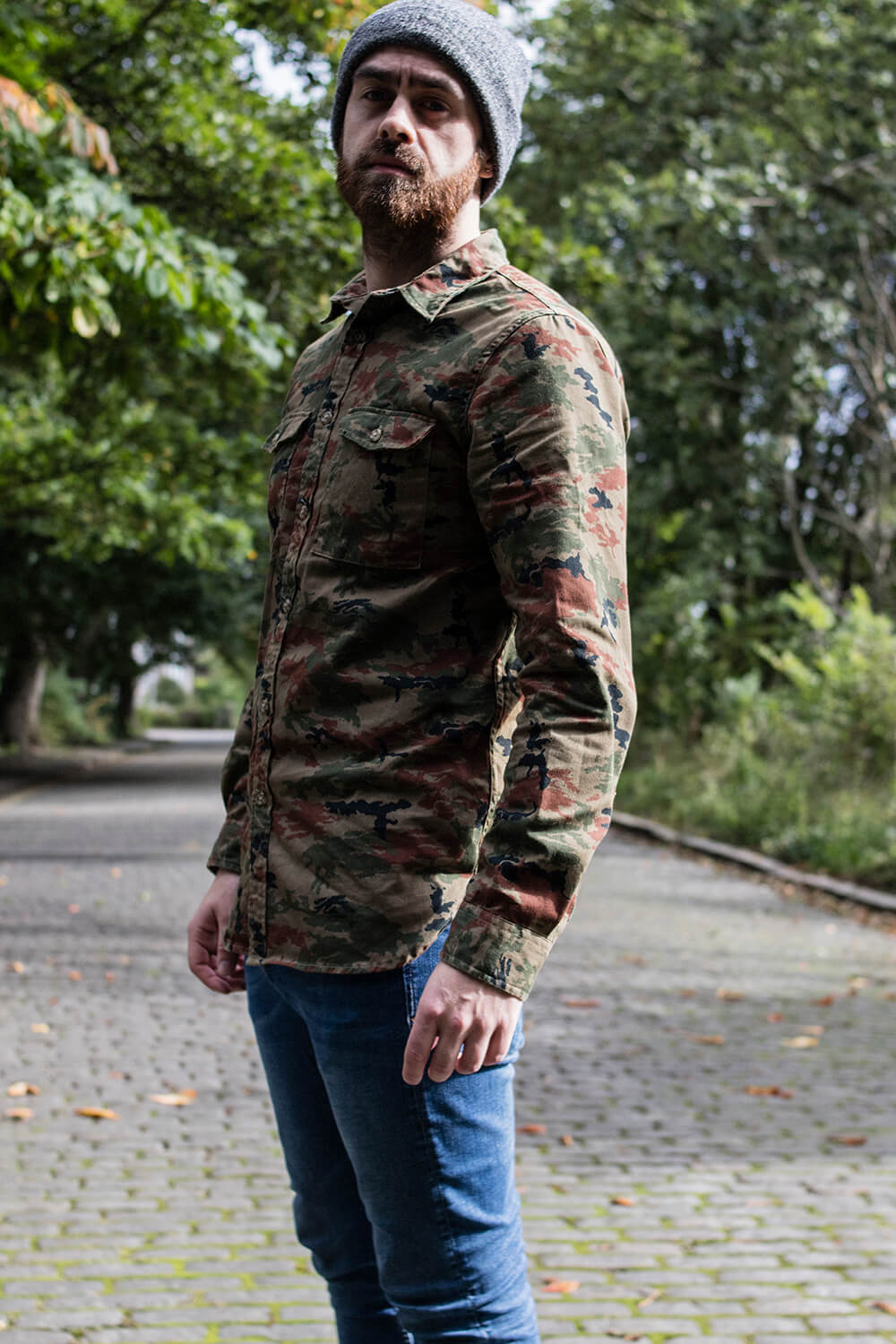 Zara Camouflage Shirt for Men