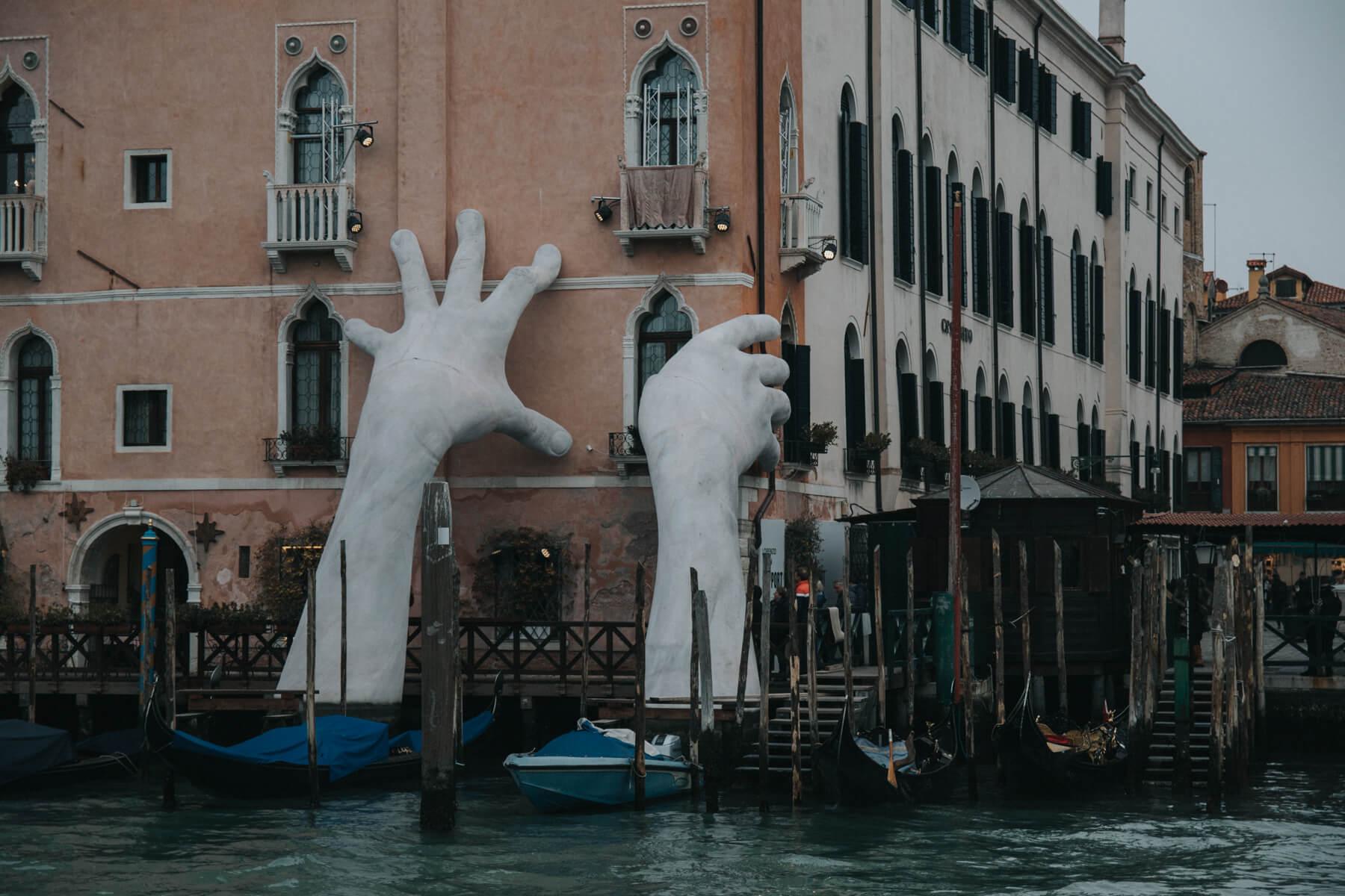 Hands Statue in Venice