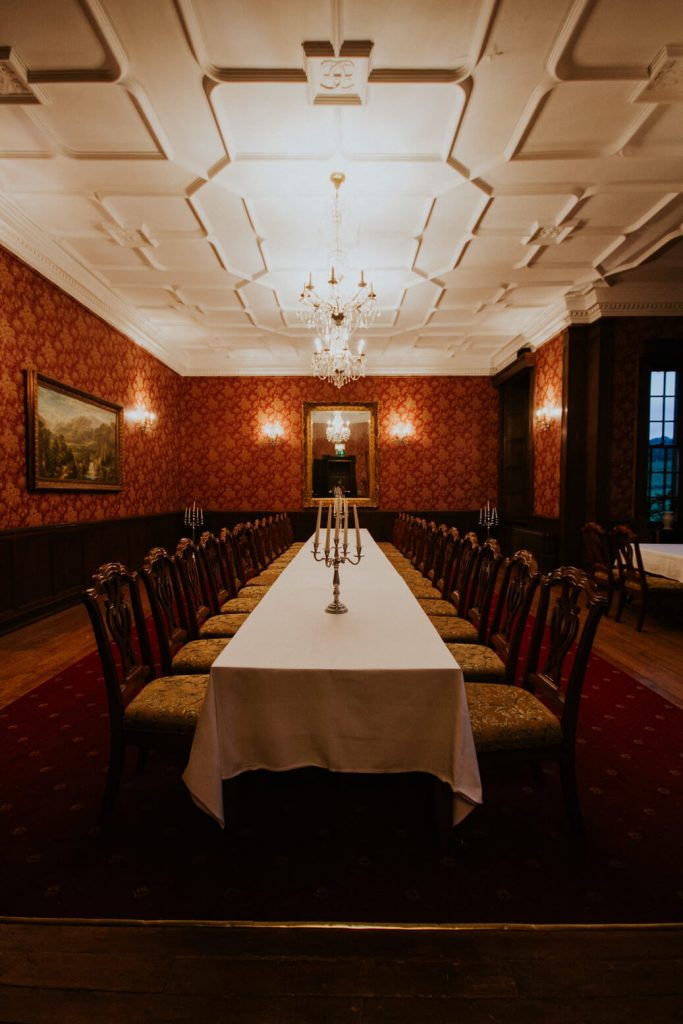 Banquet hall at Carberry Tower